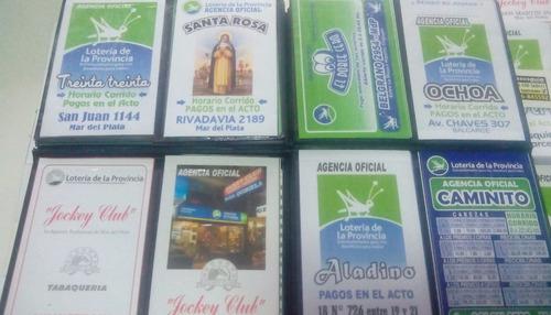 2.000 sobres bolsa quiniela. publicidad full color doble faz