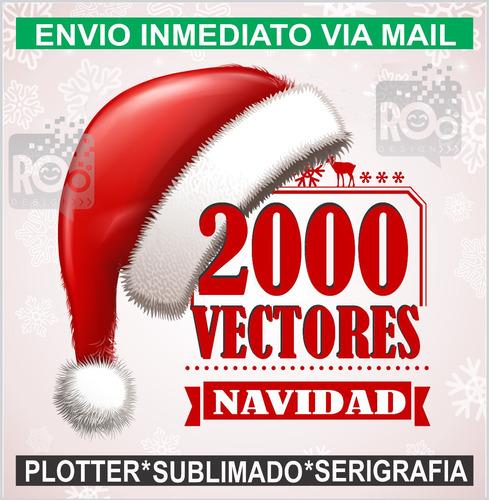 2000 vectores de navidad para plotter sublimado serigrafia