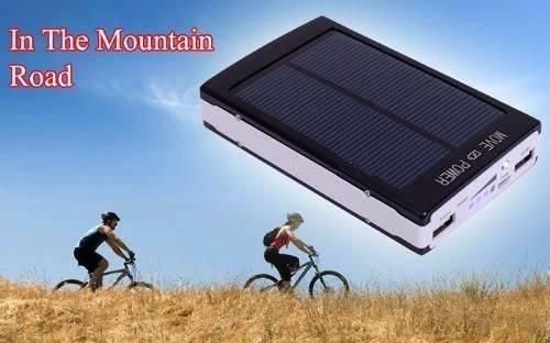 20.000 cargador solar potente bateria power bank con lampara