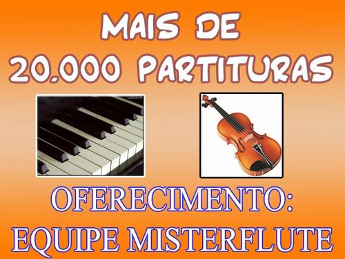 20.000 partituras populares, teclado, violino, piano. 4 dvds
