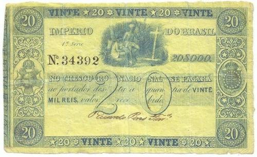 20.000 réis - 1844 - r 044 - raríssima