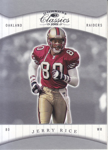 2001 donruss classics jerry rice wr 49ers