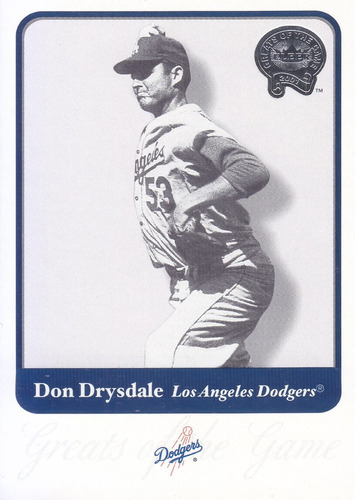 2001 greats don drysdale p dodgers