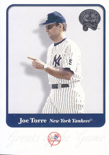 2001 greats of the game joe torre manager yankees