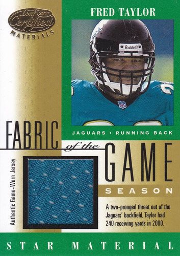 2001 leaf certified jersey fred taylor rb jags 113/240