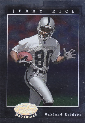 2001 leaf certified materials jerry rice wr raiders