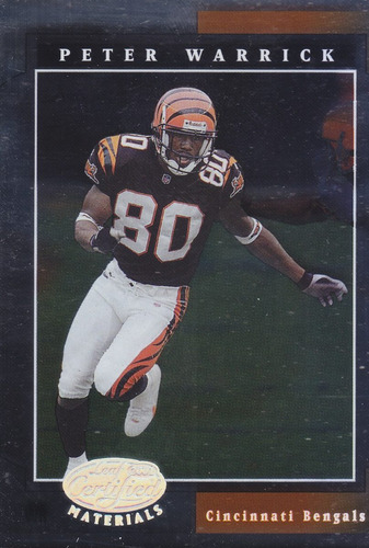 2001 leaf certified materials peter warrick wr bengals