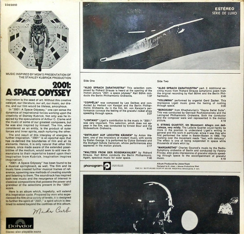 2001 lp 1970 a space odyssey volume two 16449