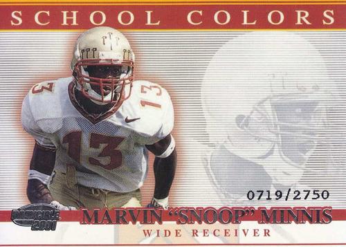 2001 pacific invincible rc school colors marvin minnis /2750