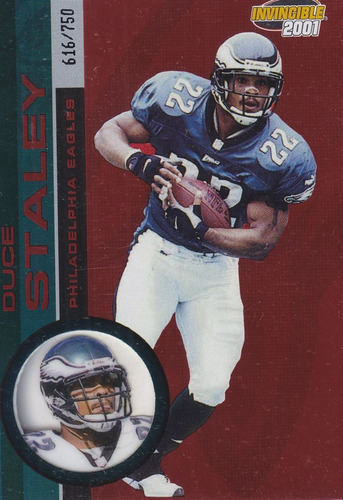 2001 pacific invincible red duce staley rb eagles /750
