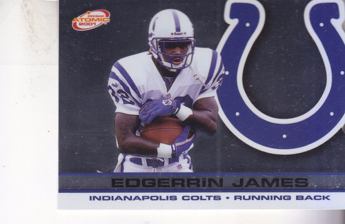 2001 pacific prism atomic edgerrin james rb colts