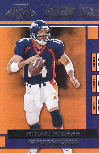 2001 playoff contenders season ticket brian griese qb bronco
