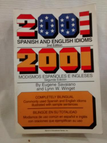 2001 spanish & english idioms bilingue modismos español ing