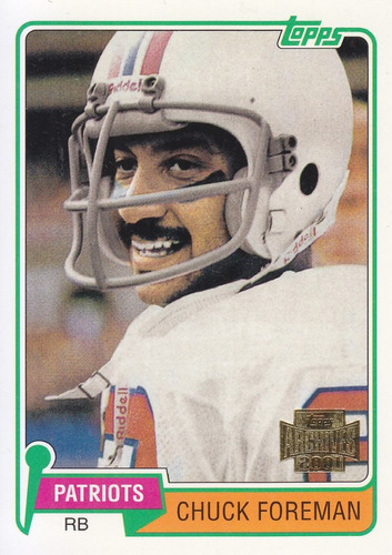2001 topps archives reprint chuck foreman rb patriots