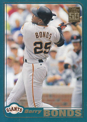 2001 topps barry bonds of giants