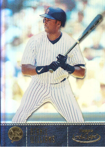 2001 topps gold label bernie williams of yankees