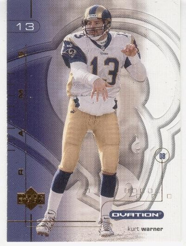2001 upper deck ovation kurt warner st. louis rams
