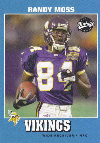 2001 upper deck vintage randy moss wr vikings