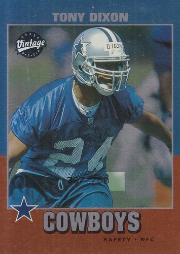 2001 upper deck vintage rookie tony dixon s cowboys