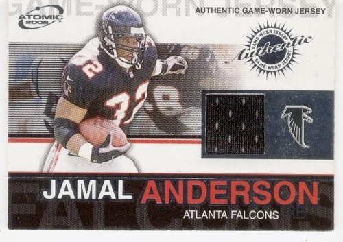 2002 atomic game worn jersey jamal anderson atlanta falcons
