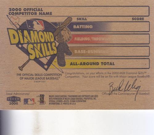 2002 fleer tradition diamond skills chipper jones braves