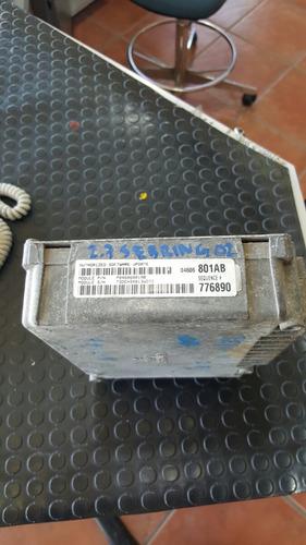 2002 sebring 2.7 ecu ecm computadora motor  6801detalle