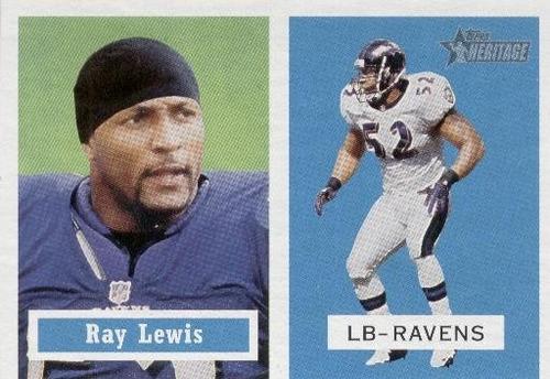 2002 topps heritage ray lewis baltimore ravens lb