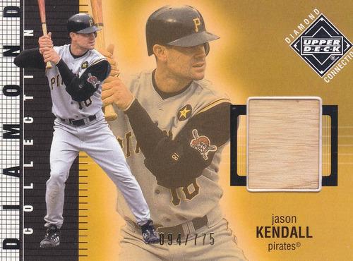 2002 ud diamond conn used bat jason kendall pirates /775