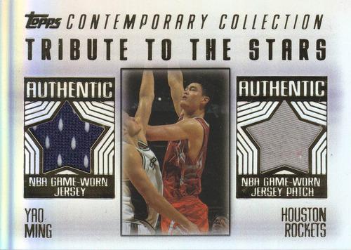 2003-04 topps contemporary dual jersey yao ming rockets /50