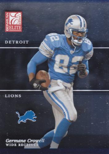 2003 donruss elite germane crowell wr lions