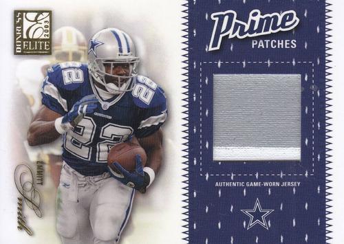 2003 donruss elite prime patches emmitt smith rb cowboys /50