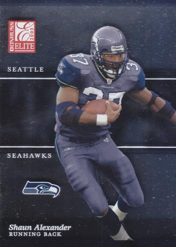 2003 donruss elite shaun alexander rb seahawks