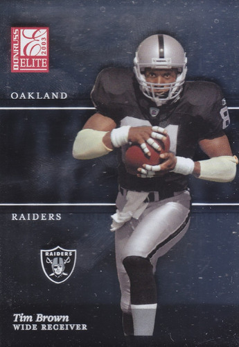 2003 donruss elite tim brown wr raiders