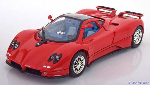 2003 pagani zonda c12  red escala 1:18 motormax