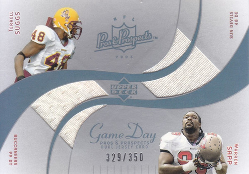 2003 upper deck p & p jerseys terrell suggs warren sapp /350