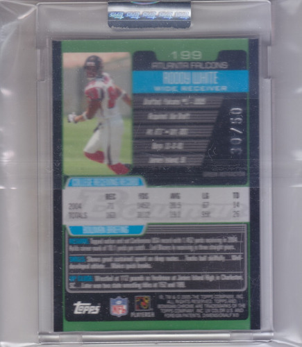 2005 bowman chrome rc uncirculated xfractor roddy white /50