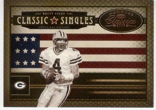 2005 donruss classic singles bronze brett favre packers/1000