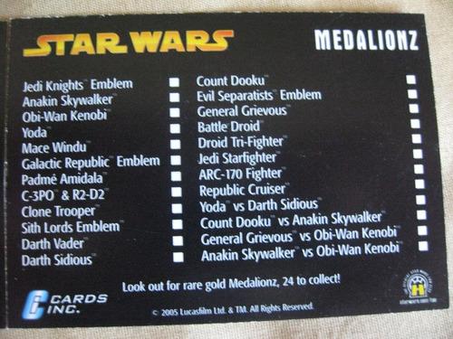 2005 star wars revenge of the sith set completo 24 monedas