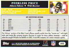 2005 topps peerless price #302 halcones de atlanta nfl hw6