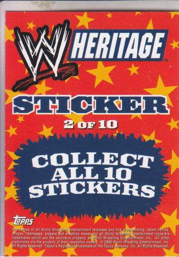 2005 topps wwe sticker the rock