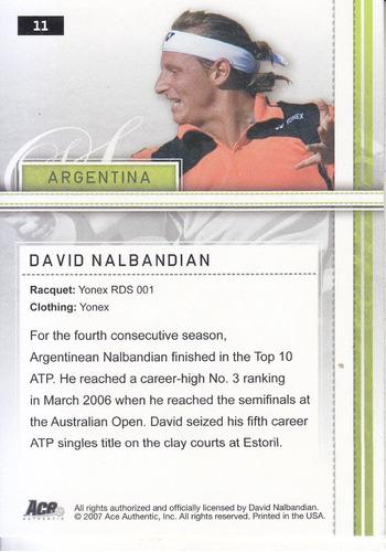 2007 ace bronze david nalbandian argentina tennis