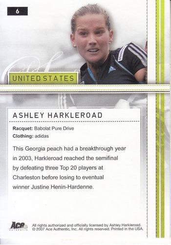 2007 ace silver ashley harkleroad united states tennis