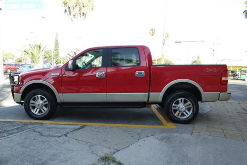 2007 ford lobo lariat 4x4 8 cil. 5.4 lts color rojo