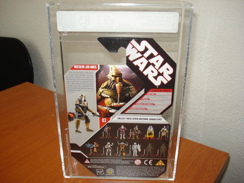 2007 mustafar lava miner afa 85 30th star wars hasbro.