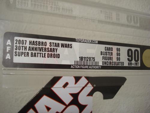 2007 super battle droid afa 90 30th star wars hasbro.
