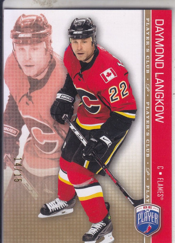 2008-09 be a player player's club daymond langkow flames /15