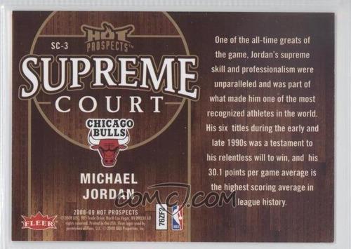 2008-09 hot prospects supreme court #sc3 - michael jordan