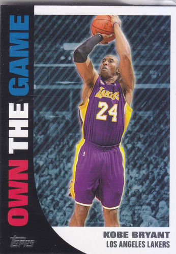 2008-09 topps own the game kobe bryant lakers
