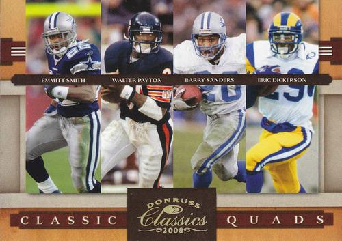 2008 classics quads gold smith payton sanders dickerson /100