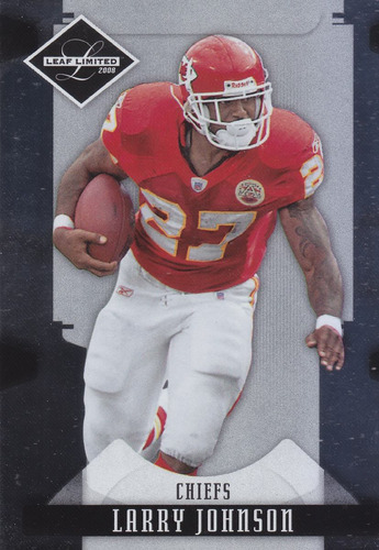 2008 leaf limited larry johnson rb chiefs